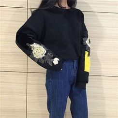 QZ Lady - Flower Embroidered Pullover