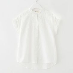 Meimei - Embroidered Short-Sleeve Top