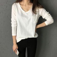 forever fair - V-neck Long-Sleeve T-shirt