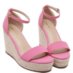 KIMI - Ankle Strap Espadrille Wedge Sandals