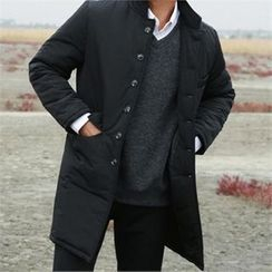 BYMONO - Stand-Collar Buttoned Padded Coat