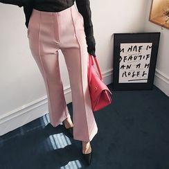 DABAGIRL - Seam-Trim Boot-Cut Dress Pants