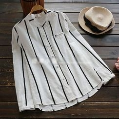 YOYO - Long-Sleeve Striped Shirt