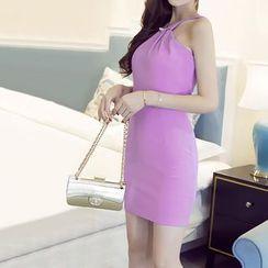 Silkfold - Halter Sheath Dress