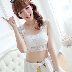 DORRIE - Crop Lace Camisole