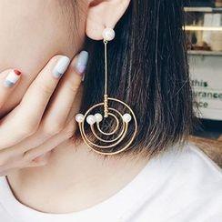 Ciroki - 仿珍珠不對稱耳飾