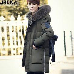 Jacka - Furry Trim Hooded Padded Coat