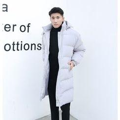 蔡先生 - 刺繡連帽夾棉拉鏈外套