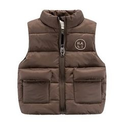 DEARIE - Kids Letter Embroidered Padded Vest