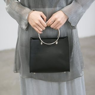 TZ - Metal Ring Handle Shoulder Bag