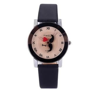 Miss Girl - Moustache Print Strap Watch