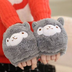 Montebello - Alpaca Fingerless Gloves with Flap