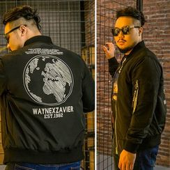 Wayne - Printed Zip Jacket