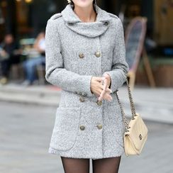 Swish - Double-breasted Woolen Coat