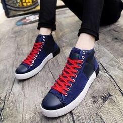Preppy Boys - High-Top Panel Sneakers