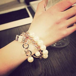 Ticoo - Chain & Bead Bracelet