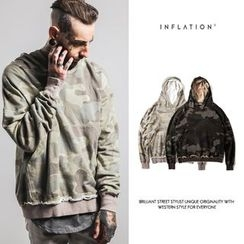 Newin - Camouflage Fray Hoodie