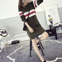 efolin - 条纹针织连衣裙