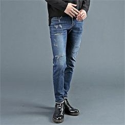 THE COVER - Distressed Washed Jeans