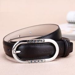 BAIEKU - Rhinestone Genuine Leather Belt