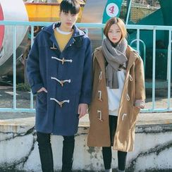 Evolu Fashion - Couple Matching Hooded Duffle Coat