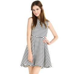 YesStyle Z - Striped Sleeveless Dress