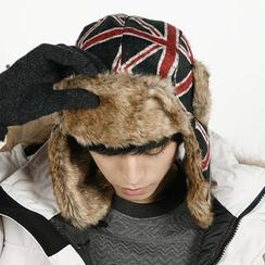 Rememberclick - Faux-Fur Trim Hat