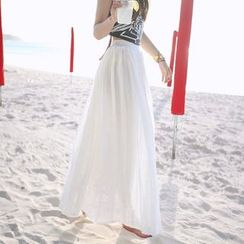 Heybabe - Plain Maxi Skirt