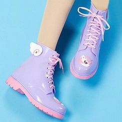 Dripdrop - Cartoon Applique Rain Boot