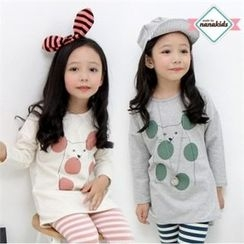 nanakids - Girls Cat Print Long T-Shirt