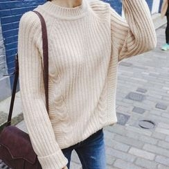 mimi&didi - Raglan-Sleeve Rib-Knit Sweater