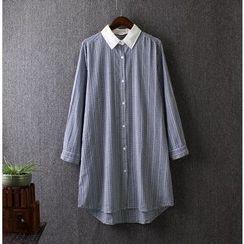 Blue Rose - Check Long Shirt