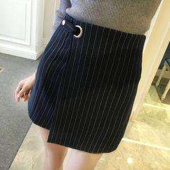 Honeydew - 條紋裹式裙