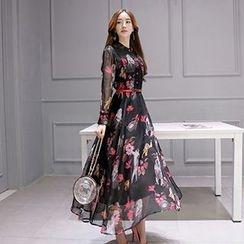 Romantica - 印花长连衣裙