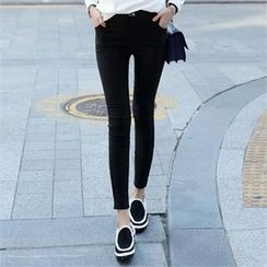 CHICFOX - Flat-Front Skinny Pants