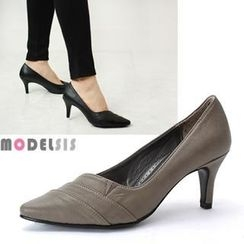 MODELSIS - Faux Leather Pumps