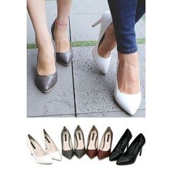 REDOPIN - Faux-Leather Pointy Pumps