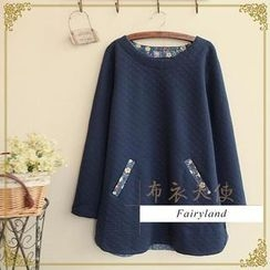 Fairyland - Floral Panel Long-Sleeve Quilted T-Shirt