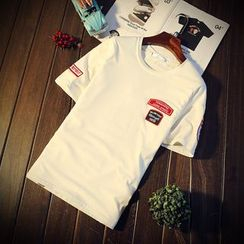 Harvin - Appliqué Short Sleeve Crewneck T-Shirt