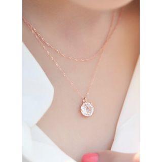 kitsch island - Rhinestone Pendant Necklace