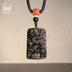 Zeno - Engraved Stone Necklace