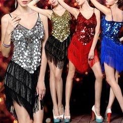 AIXI - 亮片拉丁舞連衣裙