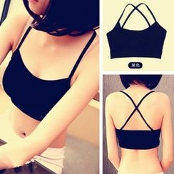Don Han - Cross Strap Bra Top
