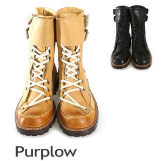 Purplow - Lace-Up Boots