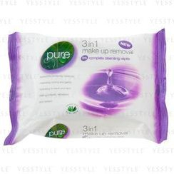 Pure - 3 In 1 Makeup Removal 25 Complete Cleansing Wipes