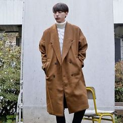Seoul Homme - Double-Breasted Oversized Coat