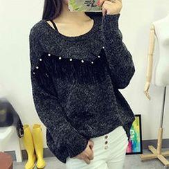 Polaris - Fringe Accent Sweater