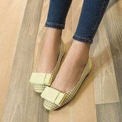 幸福鞋坊 - 千鳥格平跟鞋