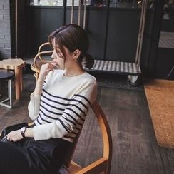 mimi&didi - Round-Neck Striped Knit Top