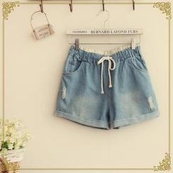 Fairyland - Drawcord Denim Shorts